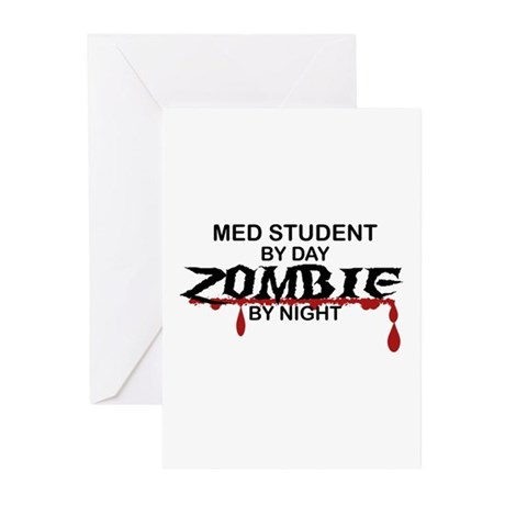 Med Student Zombie Greeting Cards (Pk of 10)