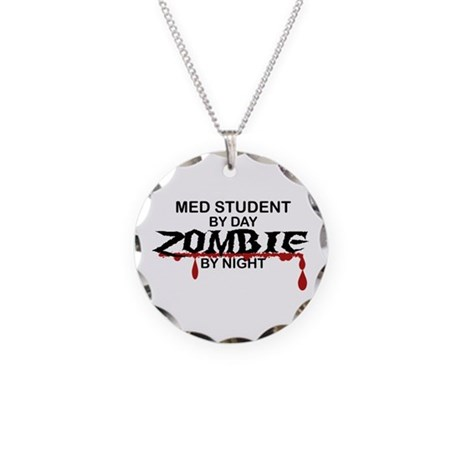 Med Student Zombie Necklace Circle Charm