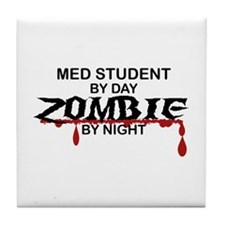 Med Student Zombie Tile Coaster