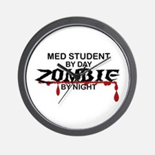 Med Student Zombie Wall Clock