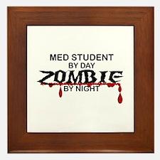 Med Student Zombie Framed Tile