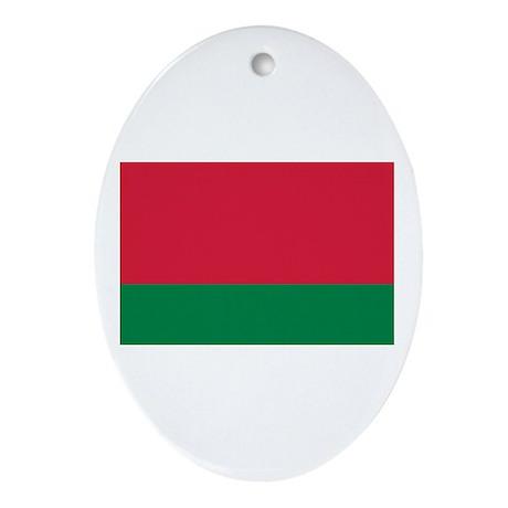 Belarus flag Ornament (Oval)
