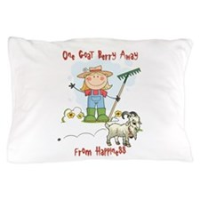Funny Goat Berries Pillow Case