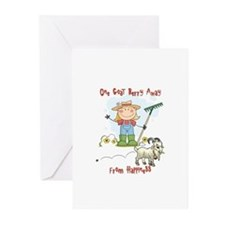 Funny Goat Berries Greeting Cards (Pk of 10)