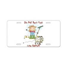 Funny Goat Berries Aluminum License Plate