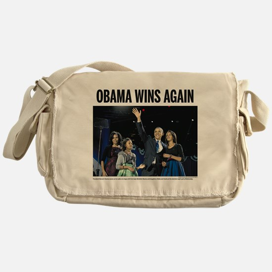 Obama Wins Again Messenger Bag