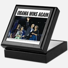 Obama Wins Again Keepsake Box