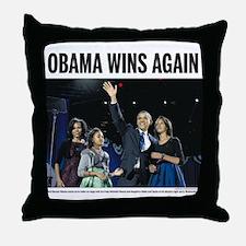 Obama Wins Again Throw Pillow