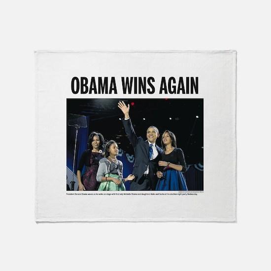 Obama Wins Again Throw Blanket