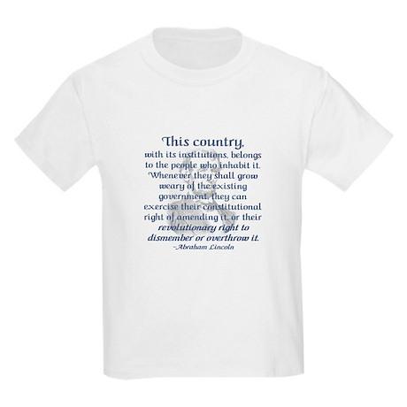 """""""Revolutionary Right"""" Kids T-Shirt"""