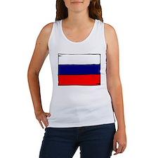 Russia Flag Women's Tank Top