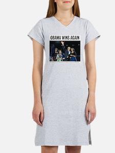 Obama wins again Women's Nightshirt