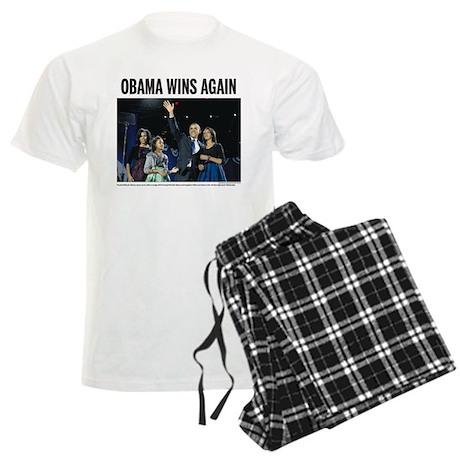 Obama wins again Men's Light Pajamas
