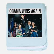 Obama wins again baby blanket