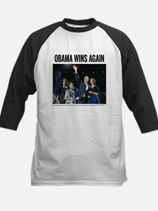 Obama wins again Kids Baseball Jersey