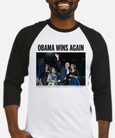 Obama wins again Baseball Jersey