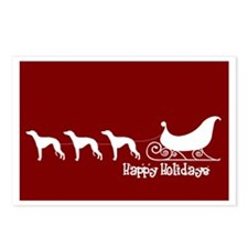 """Whippet """"Sleigh"""" Postcards (Package of 8)"""