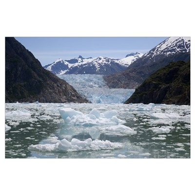 South Sawyer Glacier and bay, Tongass National For Poster