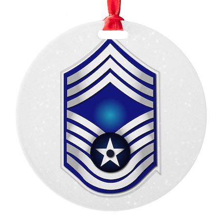 USAF - CMSgt(E9) - No Text Round Ornament