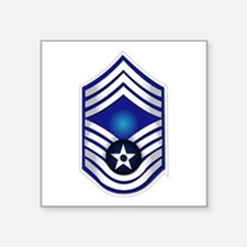 "USAF - CMSgt(E9) - No Text Square Sticker 3"" x 3"""