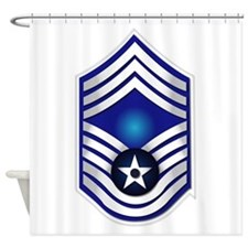 USAF - CMSgt(E9) - No Text Shower Curtain