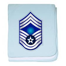 USAF - CMSgt(E9) - No Text baby blanket