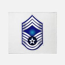 USAF - CMSgt(E9) - No Text Throw Blanket