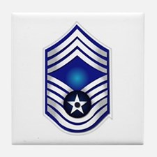 USAF - CMSgt(E9) - No Text Tile Coaster