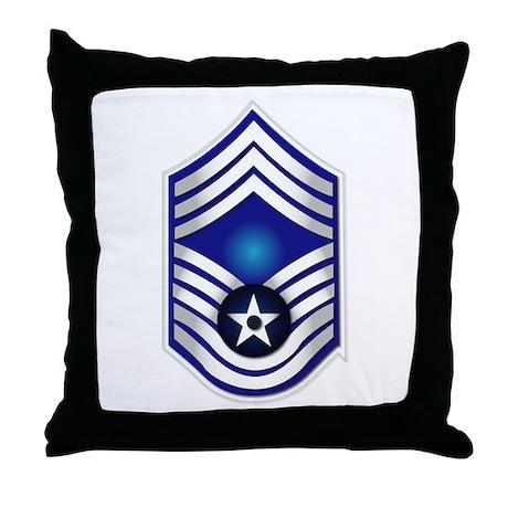USAF - CMSgt(E9) - No Text Throw Pillow