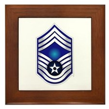 USAF - CMSgt(E9) - No Text Framed Tile
