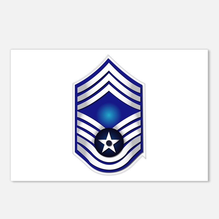 USAF - CMSgt(E9) - No Text Postcards (Package of 8