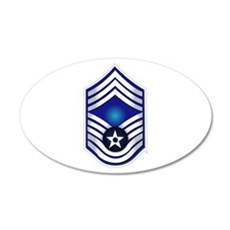 USAF - CMSgt(E9) - No Text 20x12 Oval Wall Decal