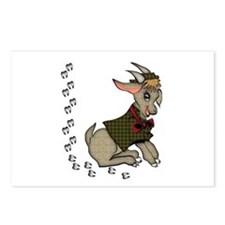 Cute Cartoon Boy Goat Postcards (Package of 8)