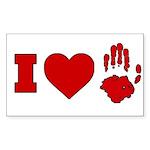 ILUVUAFC Sticker (Rectangle 50 pk)