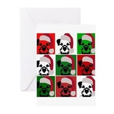 New Warhol Santa hat.png Greeting Cards (Pk of 20)