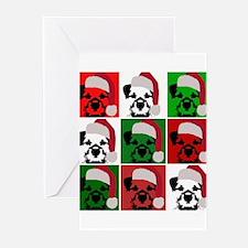 New Warhol Santa hat.png Greeting Cards (Pk of 10)
