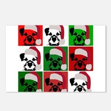 New Warhol Santa hat.png Postcards (Package of 8)