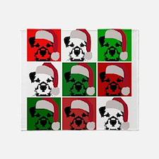 New Warhol Santa hat.png Throw Blanket