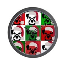New Warhol Santa hat.png Wall Clock