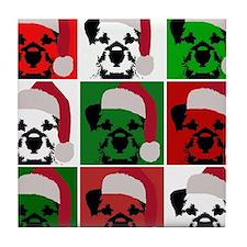 New Warhol Santa hat.png Tile Coaster