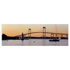 Bridge Newport RI Poster