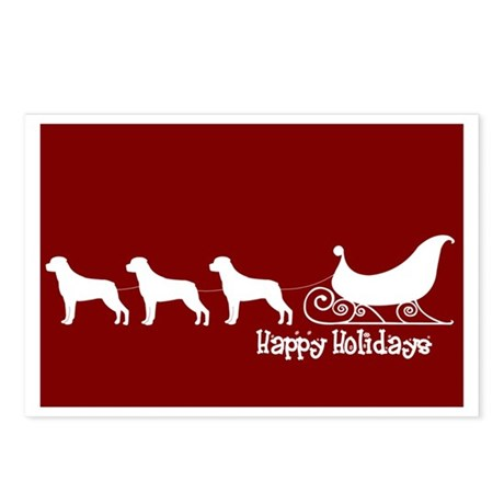 "Rottweiler ""Sleigh"" Postcards (Package of 8)"