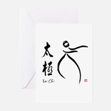 Tai Chi form and kangi Greeting Cards (Pk of 20)
