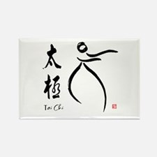 Tai Chi form and kangi Rectangle Magnet (10 pack)