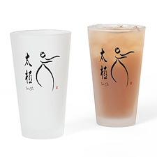 Tai Chi form and kangi Drinking Glass