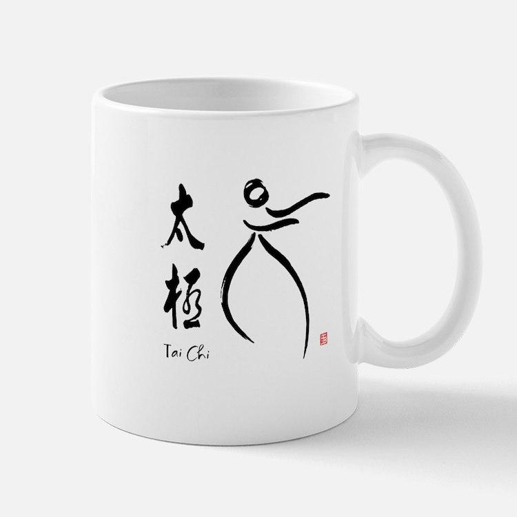 Tai Chi form and kangi Mug