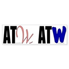 ATW shared bumper sticker (white)