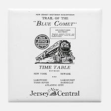 The Blue Comet Tile Coaster