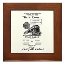 The Blue Comet Framed Tile