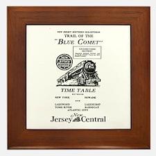 The Blue Comet Framed Tile